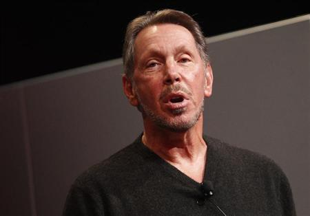 Larry Ellison introduces the company's latest SPARC servers in Redwood Shores