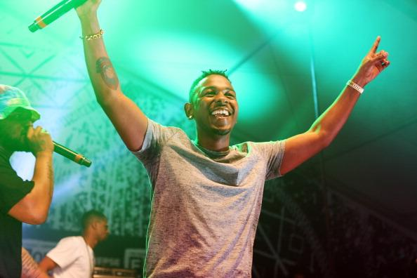Kendrick Lamar performs onstage at Fader Fort presented by Converse during SXSW on March 13, 2013 in Austin, Texas.