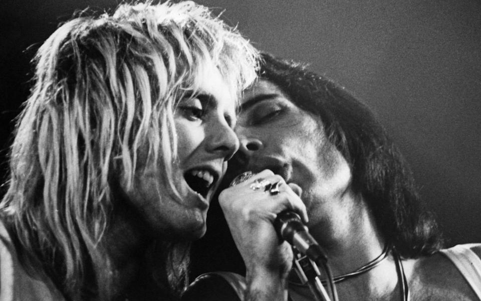 Taylor has praised the late Freddie Mercury's confidence on stage - Hulton Archive