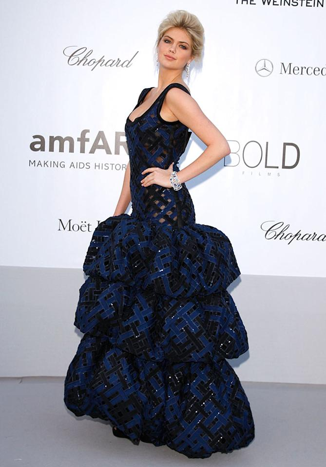 CAP D'ANTIBES, FRANCE - MAY 24: Model Kate Upton arrives at the 2012 amfAR's Cinema Against AIDS during the 65th Annual Cannes Film Festival at Hotel Du Cap on May 24, 2012 in Cap D'Antibes, France.