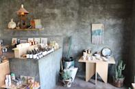 """<p><strong>Let's start with scale. Where are we between global flagship and neighborhood boutique?</strong><br> Definitely boutique. This small ceramics shop embodies the industrious yet free spirited ethos of the tiny yet close knit desert community of Joshua Tree.</p> <p><strong>What can we find here, or what should we look for?</strong><br> You'll find earthy textures and unique geometric designs baked into beautiful, one of a kind hand thrown pieces.</p> <p><strong>If money's no object, what goes in the cart?</strong><br> If we had unlimited space in our suitcase (and plenty of scratch), it'd be a set of their turquoise colored mugs.</p> <p><strong>And … what if we're on a strict budget?</strong><br> Pieces are economically priced, so go a head and stock up.</p> <p><strong>Who else shops here?</strong><br> You'll find design geeks and <a href=""""https://www.cntraveler.com/gallery/best-airbnbs-in-california?mbid=synd_yahoo_rss"""" rel=""""nofollow noopener"""" target=""""_blank"""" data-ylk=""""slk:savvy Airbnb owners"""" class=""""link rapid-noclick-resp"""">savvy Airbnb owners</a> looking to accessorize their stylish abodes.</p> <p><strong>Anything else to know?</strong><br> You'll remember the warm, welcoming vibe and the beautifully curated collection from other jewelers and makers from California.</p>"""
