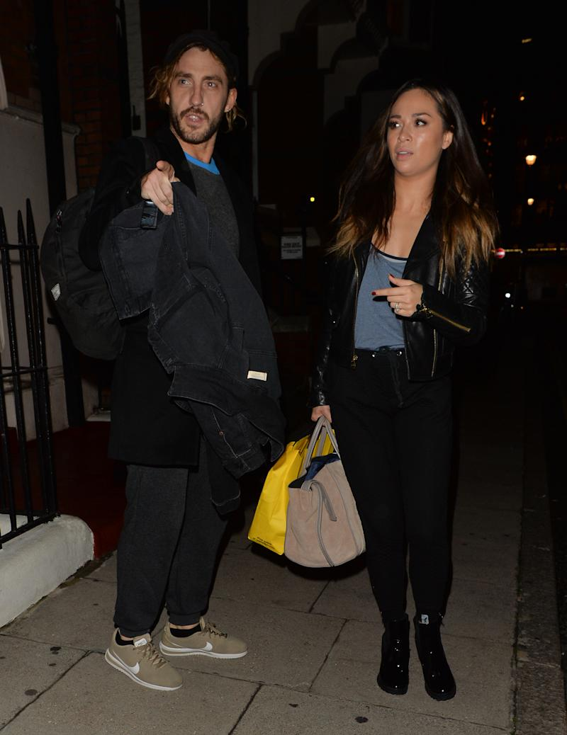 MAYFAIR, UNITED KINGDOM - OCTOBER 18: Seann Walsh and Katya Jones seen leaving a dance studio on October 17, 2018 in Mayfair, London. PHOTOGRAPH BY Eagle Lee / Barcroft Images (Photo credit should read PALACE LEE / Barcroft Media via Getty Images)