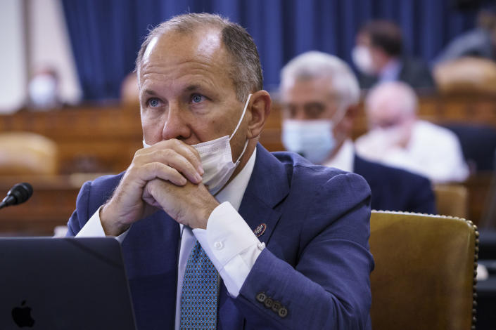 Rep. Lloyd Smucker, R-Pa., listens as the tax-writing House Ways and Means Committee holds a markup hearing to craft the Democrats' Build Back Better Act, massive legislation that is a cornerstone of President Joe Biden's domestic agenda, at the Capitol in Washington, Thursday, Sept. 9, 2021. (AP Photo/J. Scott Applewhite)