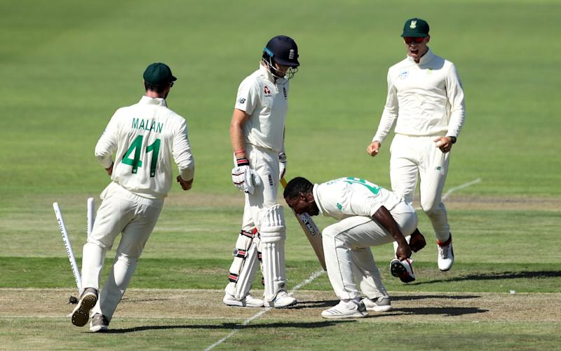 Kagiso Rabada will miss the final Test of the series after his overzealous celebration of Joe Root's dismissal  - Reuters