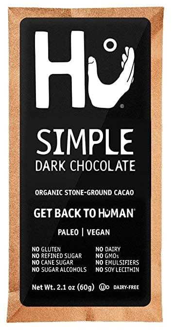 """<p><a href=""""https://www.popsugar.com/buy?url=https%3A%2F%2Fwww.amazon.com%2FHu-Chocolate-Simple-Organic-Gluten%2Fdp%2FB07DRPR2PJ%2Fref%3Dsr_1_3%3Fkeywords%3Dhu%252Bsimple%252Bdark%252Bchocolate%26qid%3D1565912690%26s%3Dgateway%26sr%3D8-3%26th%3D1&p_name=Hu%20Simple%20Dark%20Chocolate&retailer=amazon.com&evar1=fit%3Aus&evar9=46499879&evar98=https%3A%2F%2Fwww.popsugar.com%2Ffitness%2Fphoto-gallery%2F46499879%2Fimage%2F46499891%2FHu-Simple-Dark-Chocolate-Bar&list1=chocolate%2Chealthy%20living%2Cdairy-free&prop13=api&pdata=1"""" rel=""""nofollow"""" data-shoppable-link=""""1"""" target=""""_blank"""" class=""""ga-track"""" data-ga-category=""""Related"""" data-ga-label=""""https://www.amazon.com/Hu-Chocolate-Simple-Organic-Gluten/dp/B07DRPR2PJ/ref=sr_1_3?keywords=hu%2Bsimple%2Bdark%2Bchocolate&amp;qid=1565912690&amp;s=gateway&amp;sr=8-3&amp;th=1"""" data-ga-action=""""In-Line Links"""">Hu Simple Dark Chocolate</a> bars ($25 for four) may just be the best tasting dairy-free chocolate on the market. If you want to mix things up, try the Crunchy Mint flavor.</p>"""