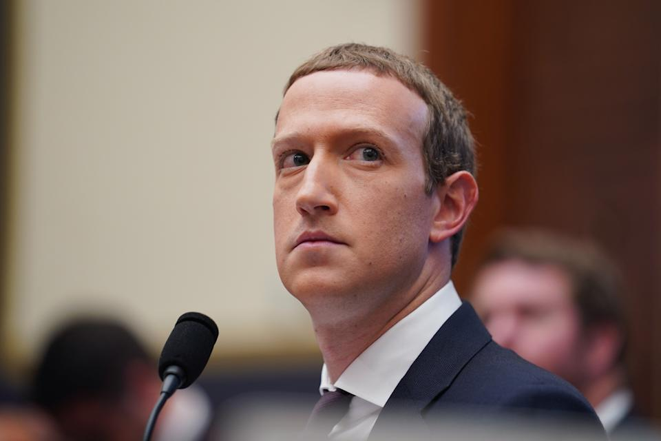 WASHINGTON, Oct. 23, 2019-- Facebook CEO Mark Zuckerberg testifies before the U.S. House Financial Services Committee during An Examination of Facebook and Its Impact on the Financial Services and Housing Sectors hearing on Capitol Hill in Washington D.C., the United States, on Oct. 23, 2019. (Photo by Liu Jie/Xinhua via Getty) (Xinhua/Liu Jie via Getty Images)