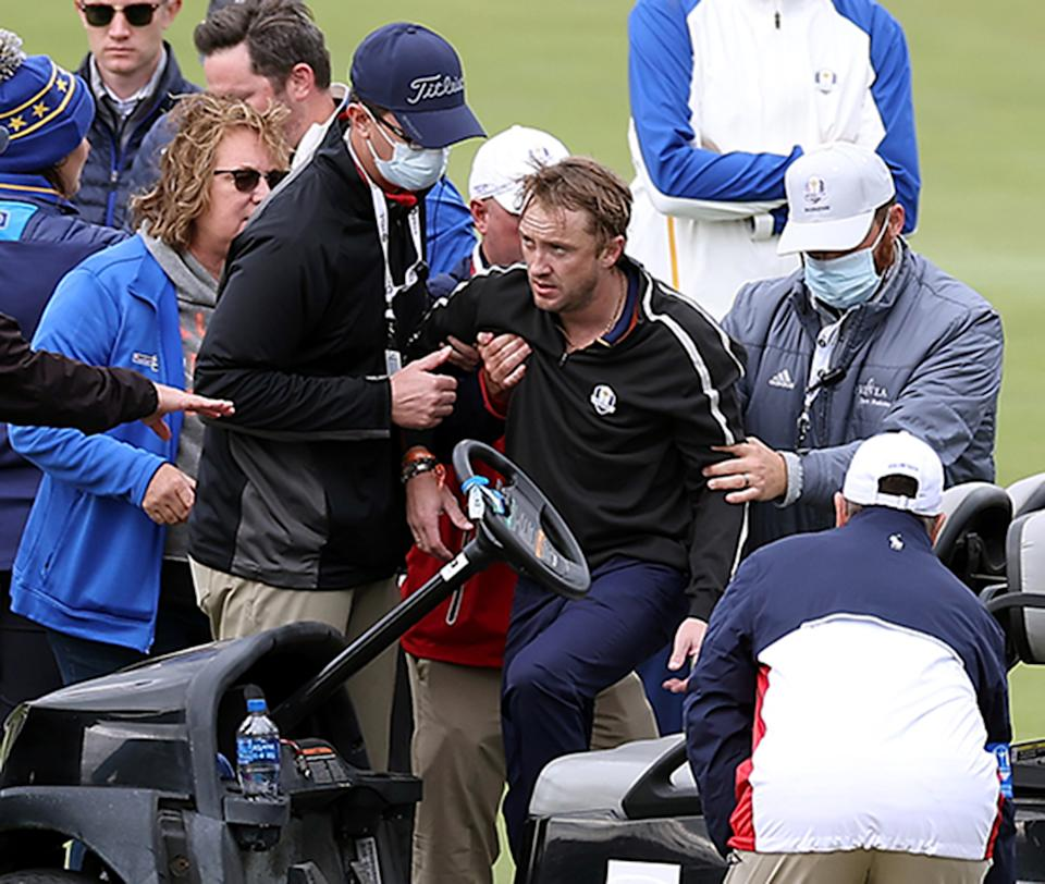 Tom Felton collapses at Ryder Cup