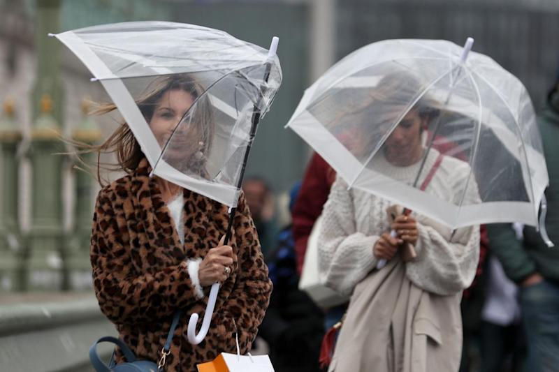 Heavy rain and strong winds are set to hit the UK on Friday (AFP/Getty Images)