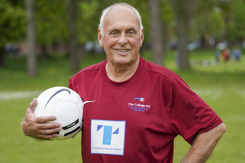 John Wootton is believed to have become the oldest Sunday League player on his 80th birthday. (SWNS)