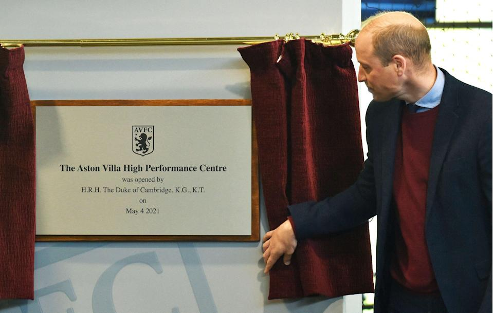 The duke unveiled a plaque at the official opening of the high performance centrePOOL/AFP via Getty Images