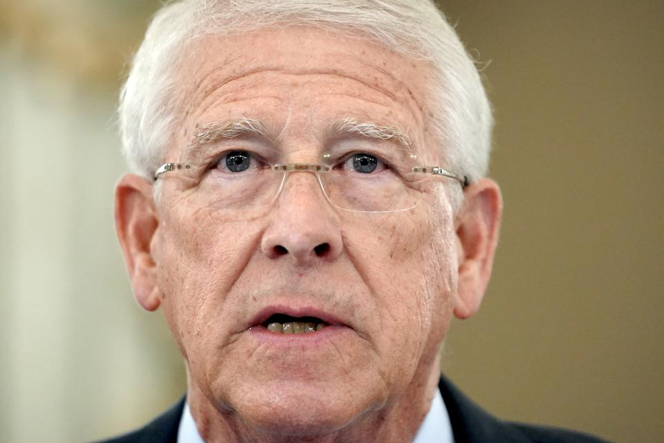 Committee Chairman Roger Wicker (R-MS) makes his opening statement during the Senate Commerce, Science, and Transportation Committee hearing on Capitol Hill in Washington, DC on October 28, 2020. (Greg Nash/Pool via Reuters)