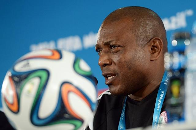 Stephen Keshi was the first African coach to get two countries to the World Cup finals -- Togo in 2006 and Nigeria in 2014 -- and the first from the continent to reach the last 16 of the competition (AFP Photo/Evaristo Sa)
