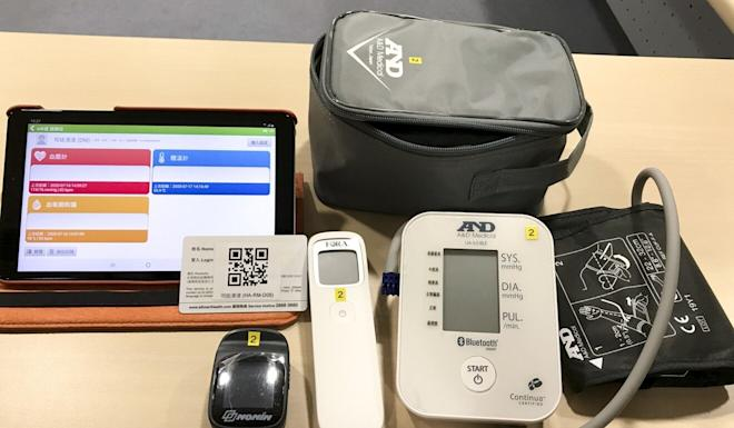 Those at a community isolation facility will be given medical equipment that will connect to a tablet computer via Bluetooth to minimise contact with medical staff. Photo: Handout