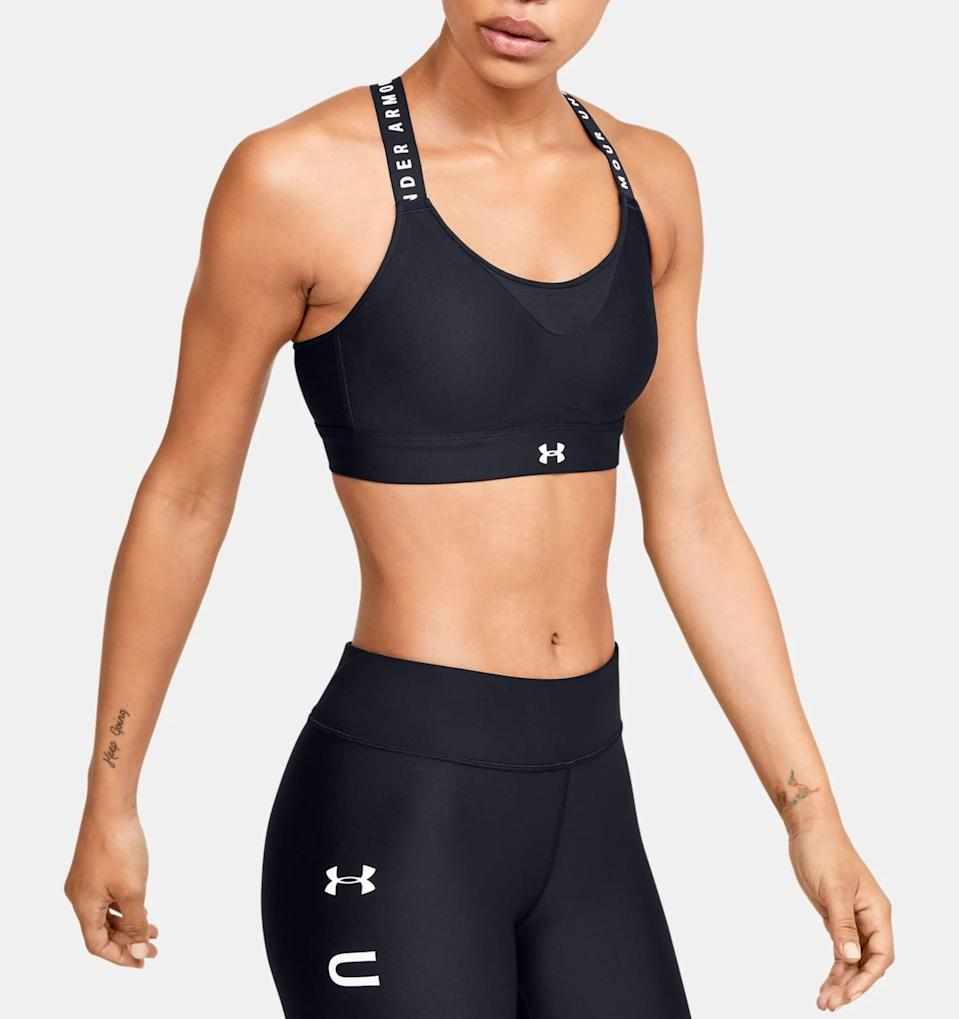 <p>When you're doing high-intensity activities like running, this <span>Under Armour Infinity High Sports Bra</span> ($60) will be your go-to.</p>
