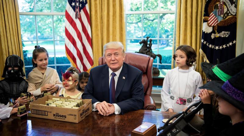 Donald Trump Met Reporters' Kids, And It Was More Trick Than Treat