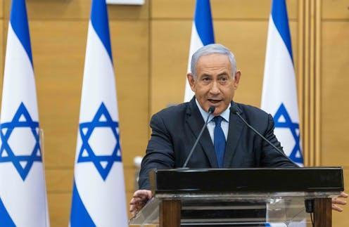 """<span class=""""caption"""">Benjamin Netanyahu's 12 consecutive years as Israeli prime minister are coming to an end.</span> <span class=""""attribution""""><a class=""""link rapid-noclick-resp"""" href=""""https://webgate.epa.eu/?SCOPE=MM&MM=MM__761e6b96ae4d&M=56933591&EVENT=DD&S=3&AJAX=1&UPDATE=1"""" rel=""""nofollow noopener"""" target=""""_blank"""" data-ylk=""""slk:Yonatan Sindel/EPA-EFE"""">Yonatan Sindel/EPA-EFE</a></span>"""