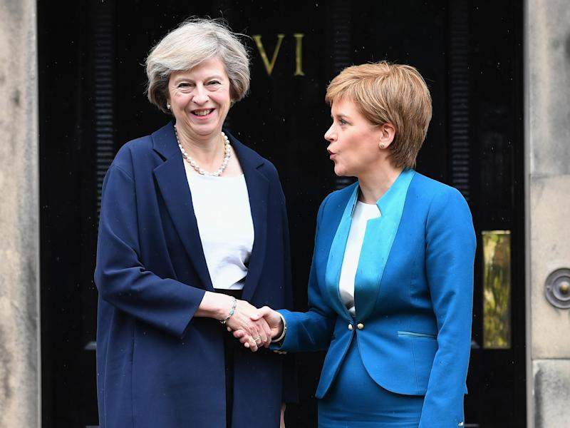 The Prime Minister and the Scottish First Minister will hold talks for the first time since the latter called for a new vote on Scotland's independence: Getty
