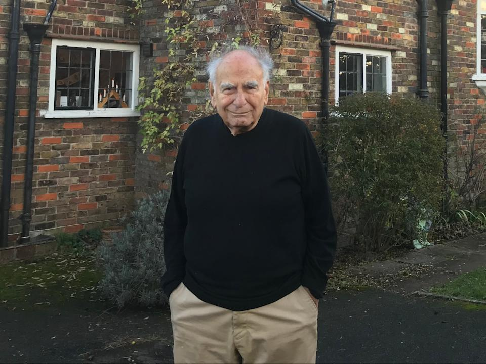 <p>Prof Gregory Gregoriadis at his home in Northwood, Middlesex</p> ( )