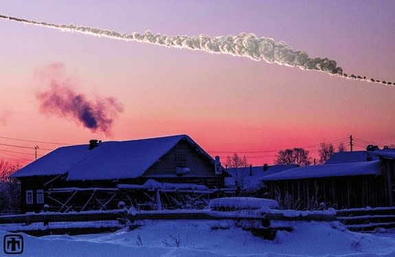 The asteroid that exploded near Chelyabinsk, Russia on Feb. 15, 2013 has provided scientists new insights into the risks of smaller asteroid impacts. This 3D simulation of the Chelyabinsk meteor explosion by Mark Boslough was rendered by Brad