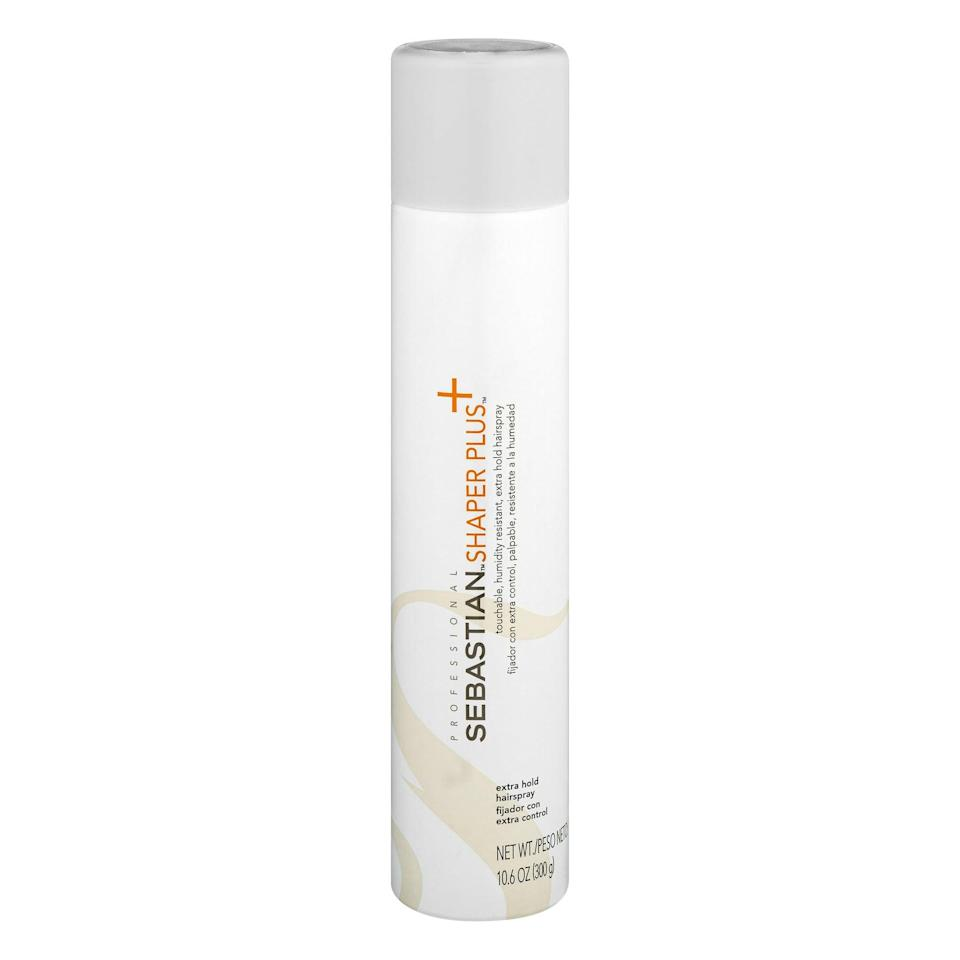"""<p>""""<span>Sebastian Shaper Plus Extra Hold Hairspray</span> ($20) is one of my favorite hairsprays. You can use it while curling your hair or after to spray your style. It provides 24-hour control and really holds curls longer than most hairsprays. It's great with blocking humidity, as well. This spray is not sticky or stiff at all, so you can still have that bouncy, free-flowing look as if there isn't any spray on your hair at all. It comes in travel sizes so you can take it everywhere you go - in your bag, on the plane, literally everywhere."""" - <a href=""""https://www.instagram.com/nafisahcarter/?hl=en"""" class=""""link rapid-noclick-resp"""" rel=""""nofollow noopener"""" target=""""_blank"""" data-ylk=""""slk:Nafisah Carter"""">Nafisah Carter</a>, celebrity hairstylist</p>"""