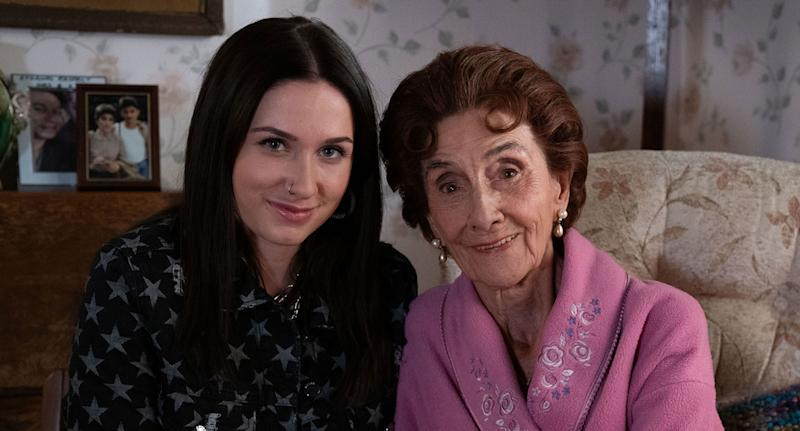 Dot Branning (June Brown) and Dotty Cotton (Milly Zero) (BBC / Jack Barnes)