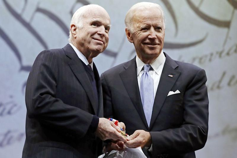 John McCain and Joe Biden (right) | AP/REX/Shutterstock