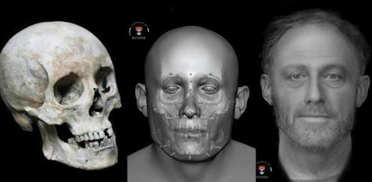 """Archaeologists at the University of Cambridge reconstructed the face of the so-called """"Context 958"""" skeleton. <cite>Chris Rynn/University of Dundee</cite>"""
