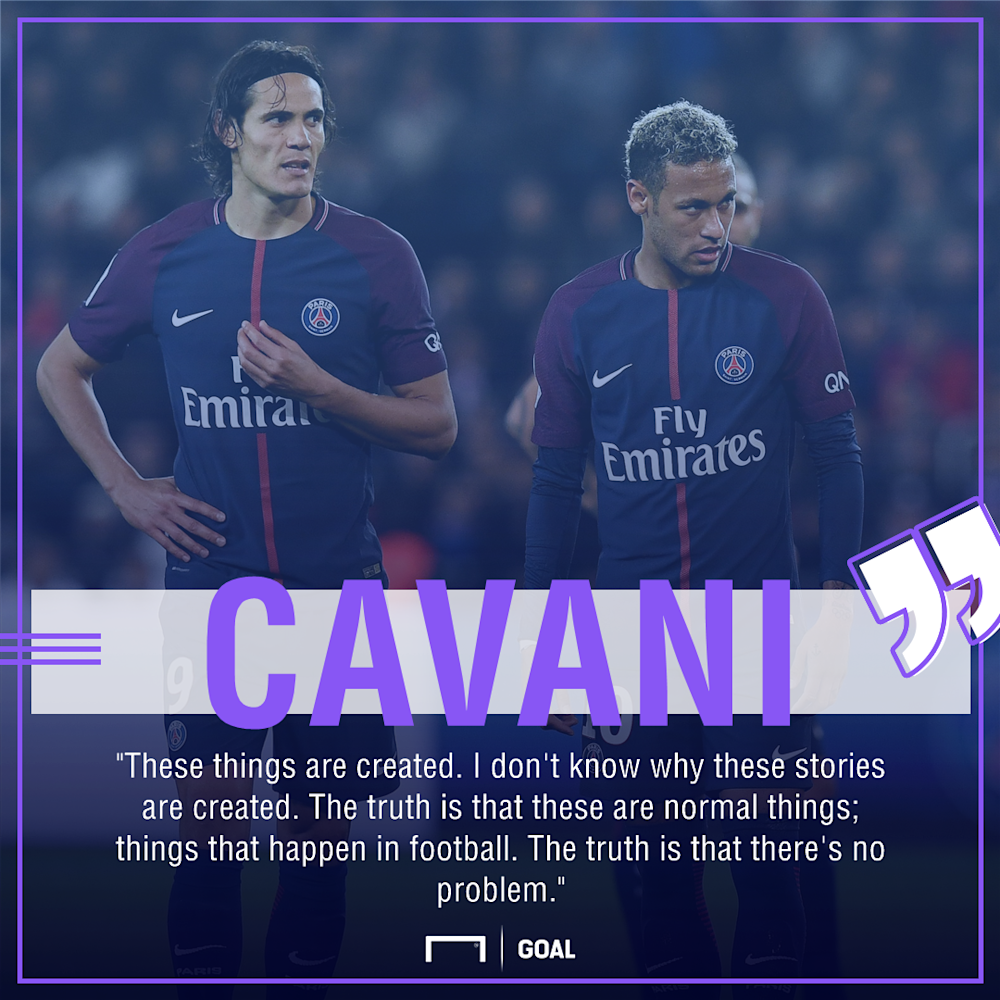 Edinson Cavani Neymar PSG no problem
