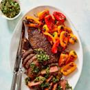 """<p>Make an extra batch of this zesty Argentinian-inspired herb, garlic, and chili sauce. You're going to want to spread it on <em>everything</em>.</p><p><em><a href=""""https://www.goodhousekeeping.com/food-recipes/healthy/a32055331/chimichurri-steak-recipe/"""" rel=""""nofollow noopener"""" target=""""_blank"""" data-ylk=""""slk:Get the recipe for Steak Chimichurri »"""" class=""""link rapid-noclick-resp"""">Get the recipe for Steak Chimichurri »</a></em></p>"""