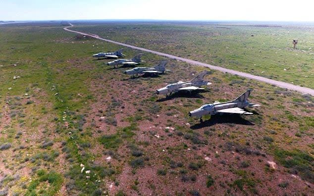 Syrian planes which survived the US missile strikes at al-Shayrat airbase on April 6
