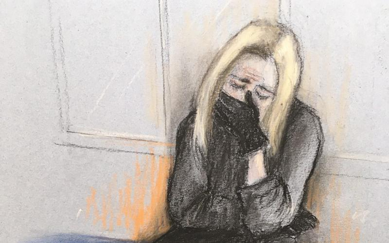 A court sketch from Caroline Flack's trial, where she pleaded not guilty to assaulting her boyfriend - PA/Elizabeth Cook