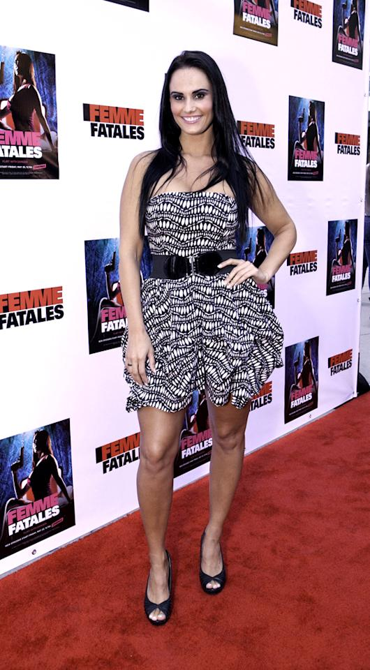 """Kristen Deluca attends Cinemax's New Series """"Femme Fatales"""" - Cast & Crew Screening at ArcLight Hollywood on May 21, 2012 in Hollywood, California."""