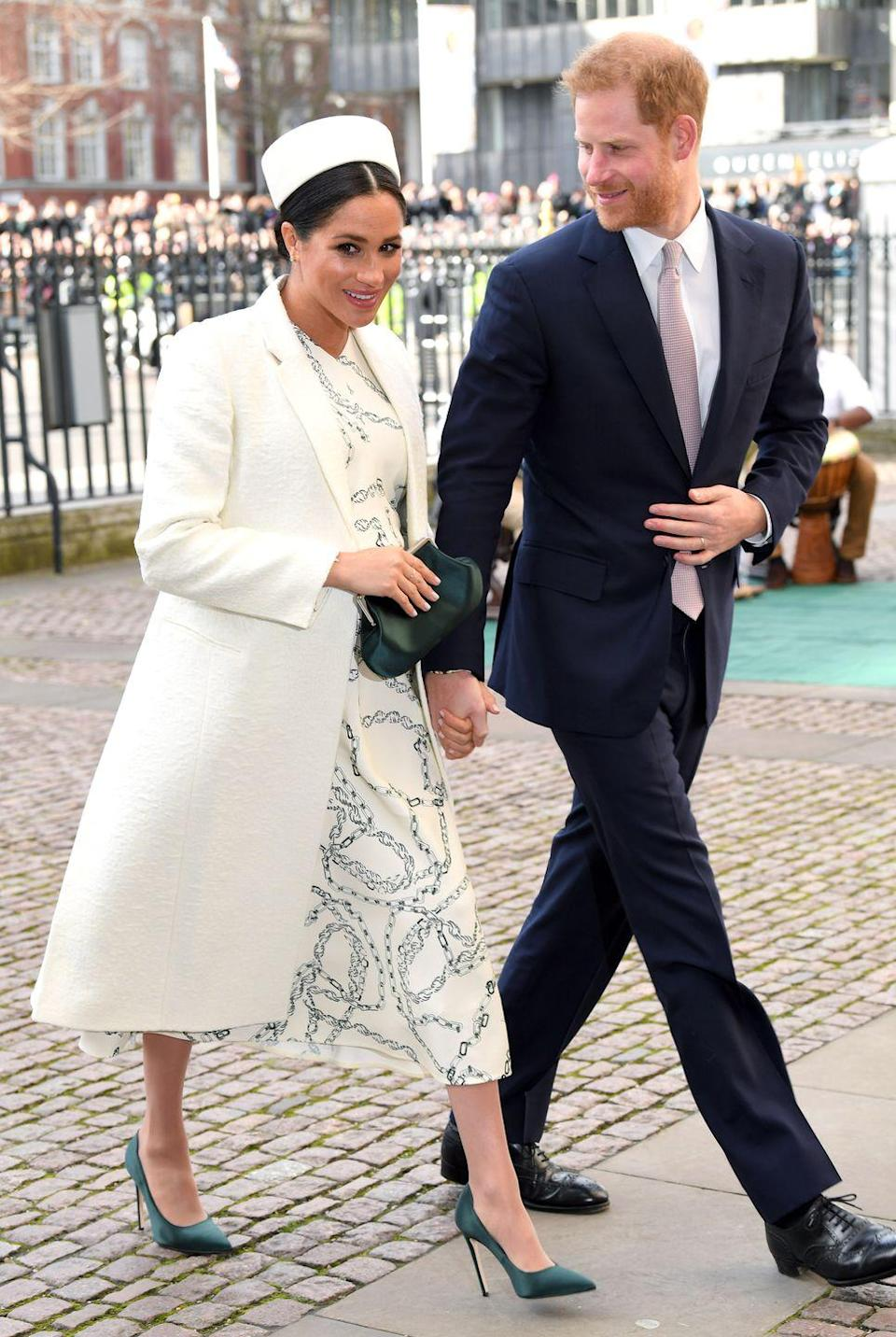 "<p>The Duke and Duchess of Sussex were attending a service in honor of <a href=""https://www.townandcountrymag.com/society/tradition/g26741707/royal-family-commonwealth-day-2019-photos/"" rel=""nofollow noopener"" target=""_blank"" data-ylk=""slk:Commonwealth Day."" class=""link rapid-noclick-resp"">Commonwealth Day. </a></p>"