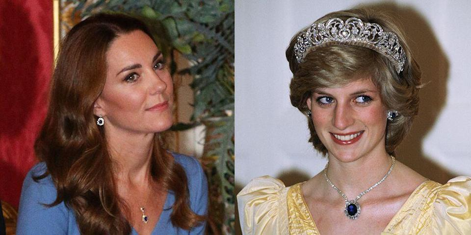 Are Those Princess Diana's Sapphire Jewels on Kate Middleton's Necklace?
