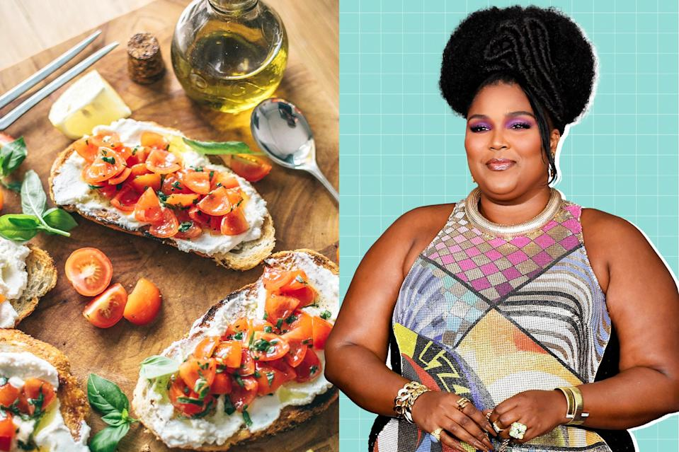 """<p>Gotta blame it on the toast, baby. Check out Lizzo's favorite ways to enjoy ricotta toast. <a href=""""https://www.eatingwell.com/article/7910026/lizzo-ricotta-toast-tiktok/"""" rel=""""nofollow noopener"""" target=""""_blank"""" data-ylk=""""slk:Get the Recipes"""" class=""""link rapid-noclick-resp"""">Get the Recipes</a></p>"""