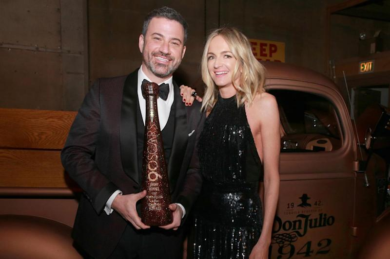 Support: Jimmy Kimmel and his wife Molly McNearney: Rich Fury/Getty Images for Jimmy Kimmel