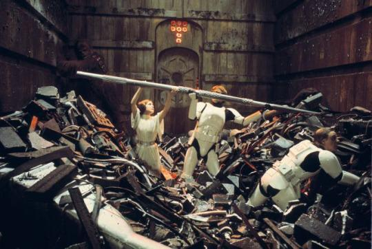 Image result for star wars trash compactor