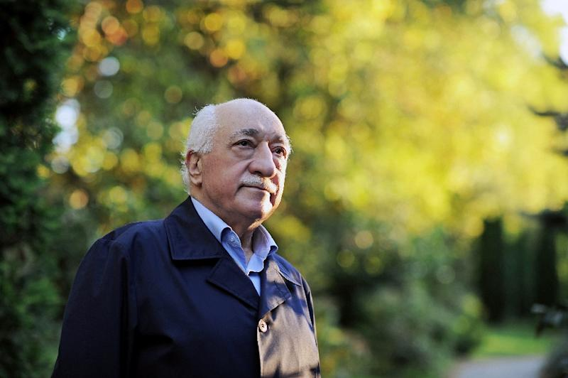 "Turkey has accused US-based preacher Fethullah Gulen of running a ""parallel state"" and staging the coup attempt through its supporters in the army, which the reclusive cleric vehemently denies (AFP Photo/Selahattin Sevi)"