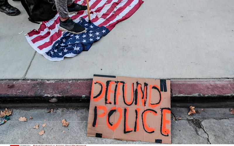 Protesters in Los Angeles called for the police to be defunded - Robert Gauthier/Los Angeles Times/Shutterstock /Shutterstock