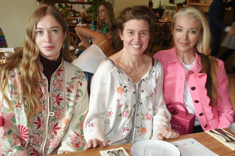 Hungry ladies: Anouska Beckwith,Christina Franco and Tamara Beckwith (Photo by David M. Benett/Getty Images)