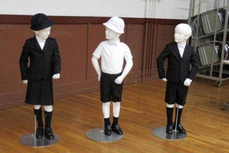 The new school uniforms have been designed by Italian brand Armani (AP)