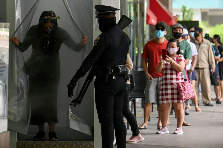 Restrictions on movement were loosened in Manila to boost the economy, which has been battered by the COVID-19 pandemic (AFP Photo/Ted ALJIBE)