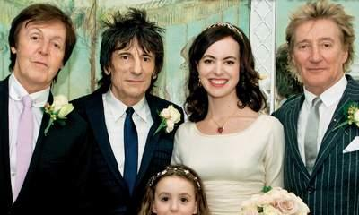 Ronnie Wood's Wedding Photo With New Wife