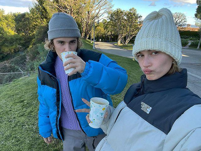 """<p>""""Just a couple, with matching jackets, beanies (tuques) if ur Canadian and coffee ready to bring in the new year with our friends and family,"""" Justin Bieber <a href=""""https://www.instagram.com/p/CJe3aSlHnAy/"""" rel=""""nofollow noopener"""" target=""""_blank"""" data-ylk=""""slk:wrote of spending his last day of 2020"""" class=""""link rapid-noclick-resp"""">wrote of spending his last day of 2020</a> with wife Hailey Baldwin. </p>"""