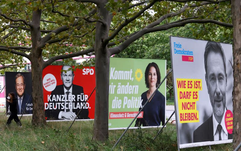 FILE PHOTO: Election Posters in Berlin