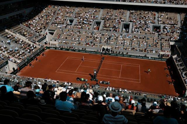 Up to 5,000 spectators were allowed into Court Philippe Chatrier