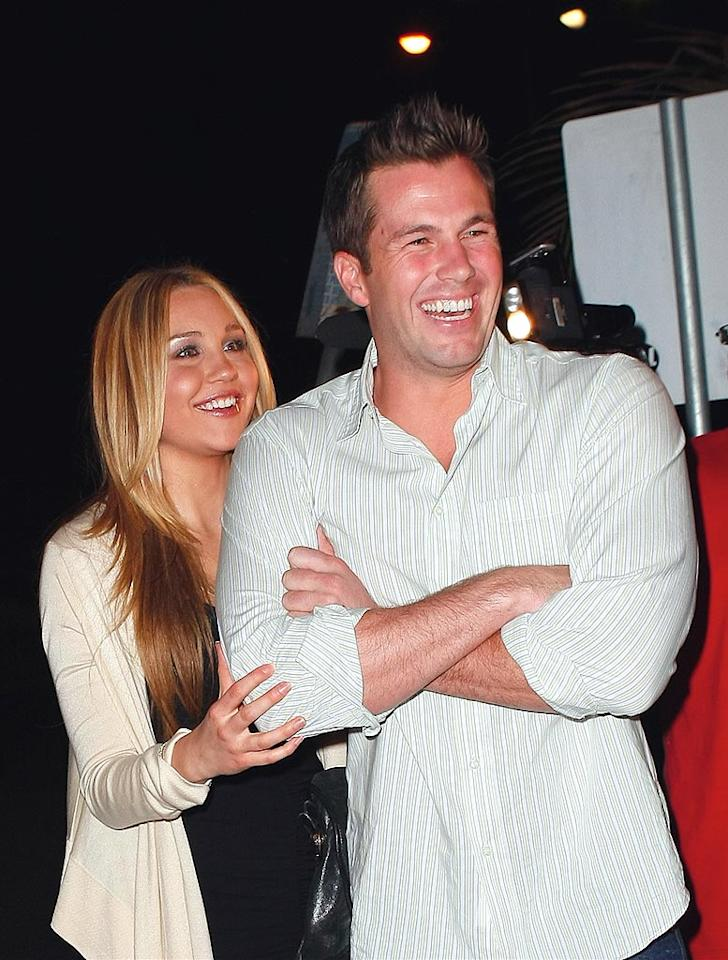 "Amanda Bynes cozied up with Lauren Conrad's ex, Doug Reinhardt, inside the hot spot. <a href=""http://www.splashnewsonline.com"" target=""new"">Splash News</a> - December 3, 2008"