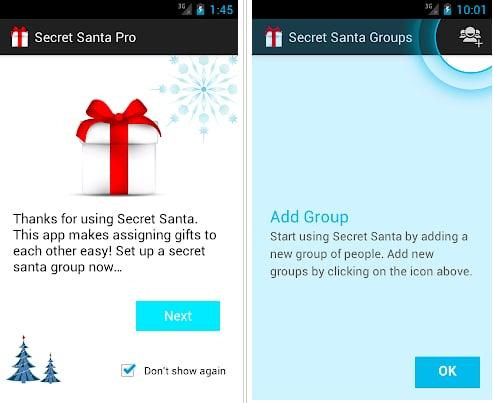 """<p>With the option of both the free lite app or the upgrade to the pro version, <a rel=""""nofollow"""" href=""""http://sites.google.com/site/secretsantaandroid/"""">Secret Santa</a> allows you to create groups and add in as many participants as you'd like. You can set exclusions and restrictions, and participants are then notified of their match via SMS. </p> <p><em>Available for Android</em></p>"""