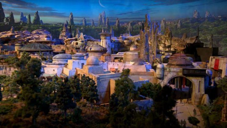 A model of Disney's upcoming 'Star Wars' Land