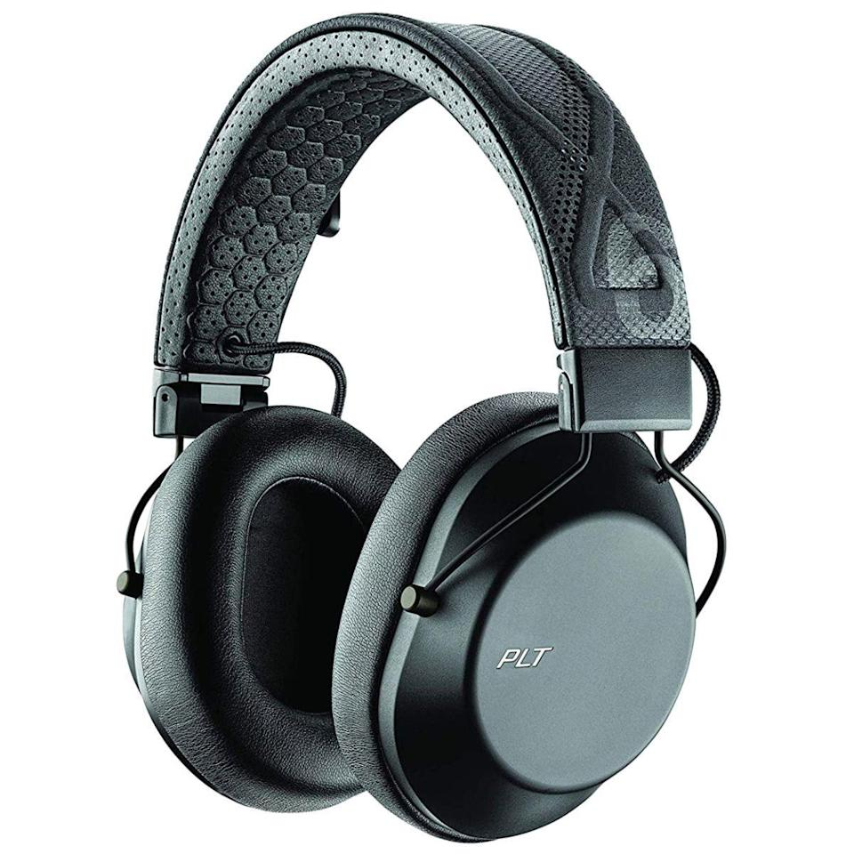 """<p><strong>Plantronics</strong></p><p>amazon.com</p><p><strong>$69.93</strong></p><p><a href=""""https://www.amazon.com/dp/B07WHF6LLG?tag=syn-yahoo-20&ascsubtag=%5Bartid%7C2089.g.285%5Bsrc%7Cyahoo-us"""" rel=""""nofollow noopener"""" target=""""_blank"""" data-ylk=""""slk:Shop Now"""" class=""""link rapid-noclick-resp"""">Shop Now</a></p><p>The Plantronics BackBeat FIT 6100 on-ear headphones are the best sub-$100 option for exercising. They have a cool design, a comfy and secure fit, a water- and sweat-resistant build with an official IPX5 rating, and convenient tap controls with an easy-to-access awareness mode.</p><p>Powered by 40-millimeter audio drivers, the bass-heavy sound of the BackBeat FIT 6100 is the perfect fuel for workouts. The headphones can deliver up to 24 hours of wireless playback between charges. We only wish they had a more up-to-date charging connector than microUSB.</p><p><strong>More: </strong><a href=""""https://www.bestproducts.com/tech/gadgets/a15385022/reviews-sports-headphones-for-running-workouts/"""" rel=""""nofollow noopener"""" target=""""_blank"""" data-ylk=""""slk:We Tested the Best Sports Headphones and Earbuds"""" class=""""link rapid-noclick-resp"""">We Tested the Best Sports Headphones and Earbuds</a></p>"""